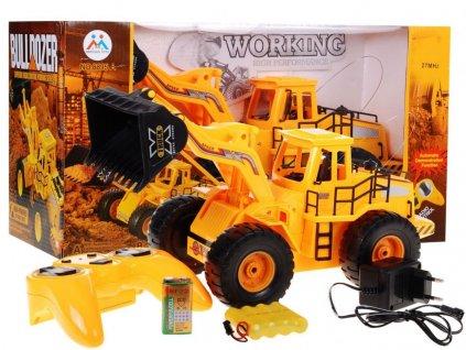 Žlutý buldozer na dálkové ovládání