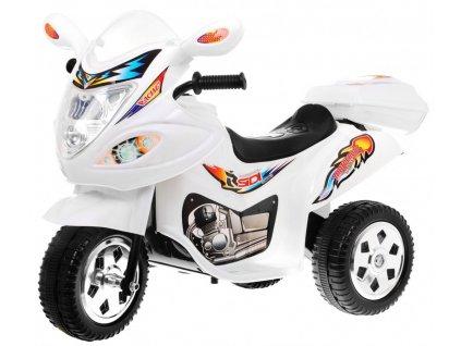 Dětská elektrická motorka skútr bílý