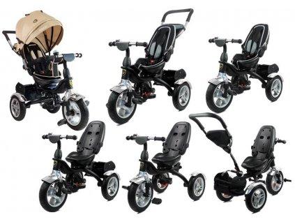 Dětská tříkolka PRO600 krémová