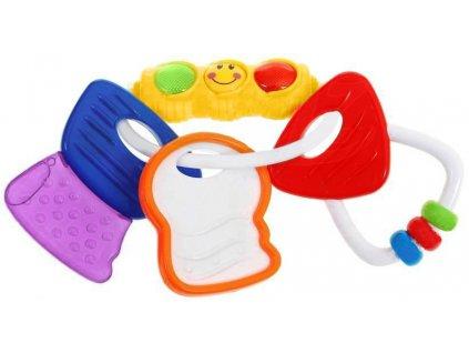 Oblíbené klasické kousátko chrastítko klíče svítí,Huile Toys 33162