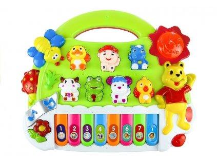 Dětské piano se zvířátky