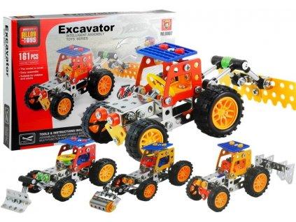 Konstrukční stavebnice 4v1 stavební vozidlo