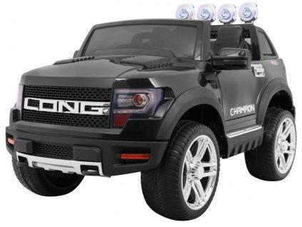 Elektrické autíčko LONG černé