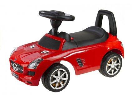 Odrážedlo Mercedes Benz se zvuky červený