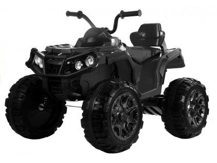 Elektrická čtyřkolka ATV s ovládačem, EVA kola černá