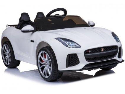Elektrické autíčko Jaguar F-Type bílé