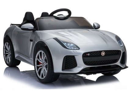 Elektrické autíčko Jaguar F-Type lakované stříbrné