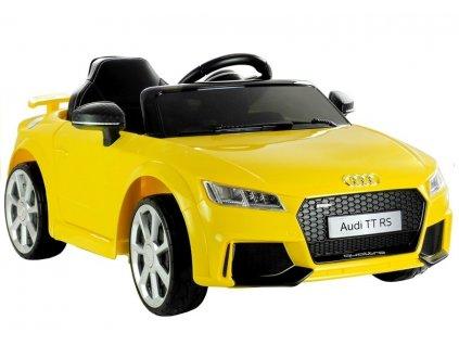 Elektrické autíčko Audi TT RS žluté