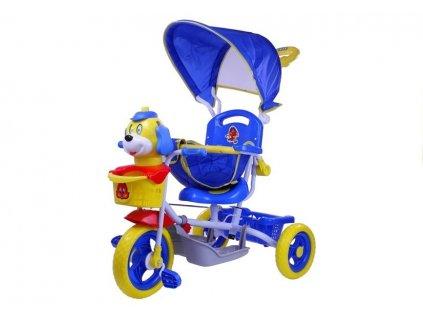 Dětská tříkolka pejsek modrý