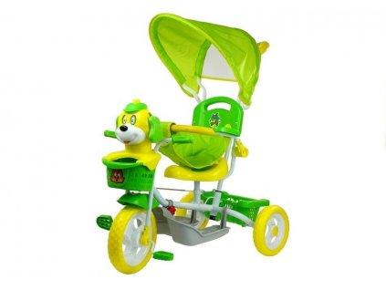 Dětská tříkolka pejsek zelený