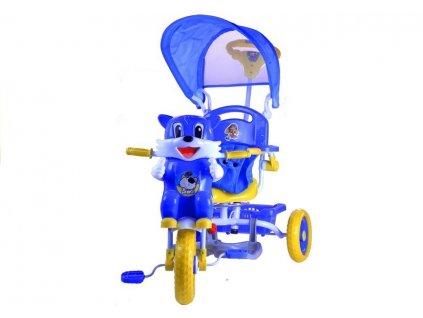 Dětská tříkolka kočka modrá