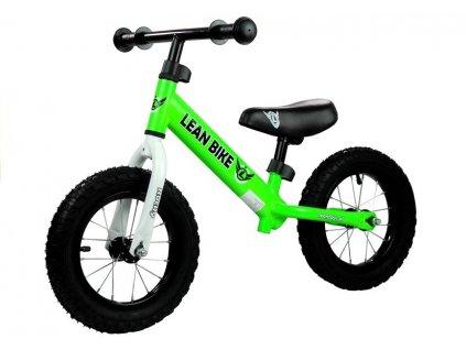 Dětské odrážedlo Rocky nafukovací kola zelené