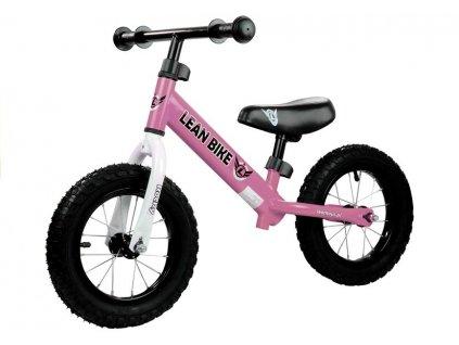 Dětské odrážedlo Rocky nafukovací kola růžové