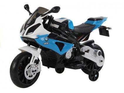Dětská výkonná elektrická motorka BMW S1000 modrá