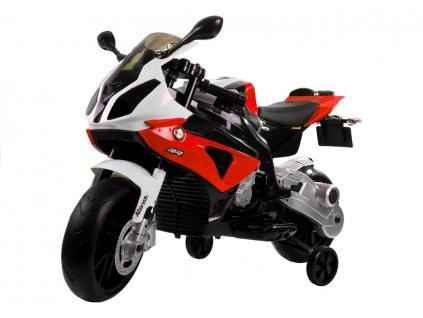 Dětská výkonná elektrická motorka BMW S1000 červená