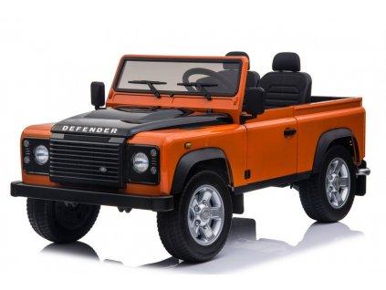 Dětské elektrické autíčko Land Rover DEFENDER oranžové