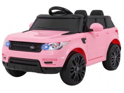 Elektrické autíčko Land Rapid Racer růžový