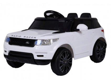 Elektrické autíčko Land Rapid Racer bílé