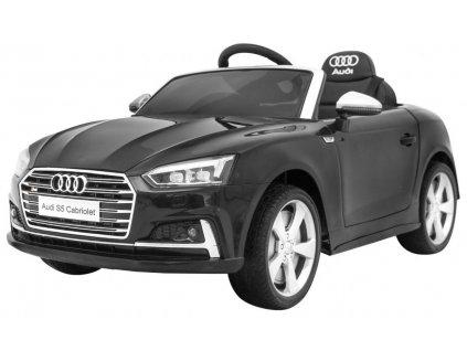 Elektrické autíčko Audi S5 kabriolet černý
