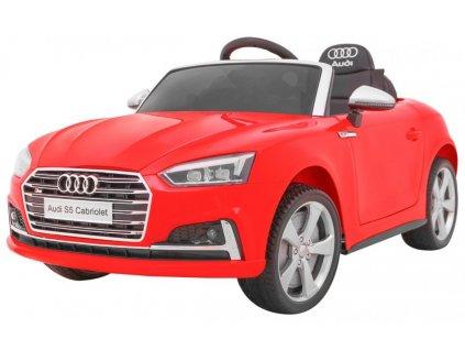 Elektrické autíčko Audi S5 kabriolet červený