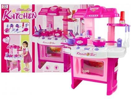 Kuchyňka s troubou a příslušenstvím růžová