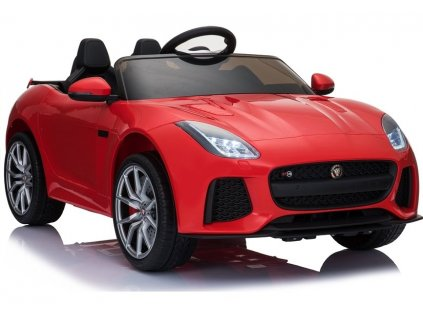 Elektrické autíčko Jaguar F-Type lakované červené