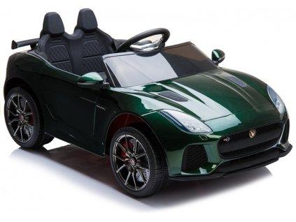 Elektrické autíčko Jaguar F-Type lakované zelené