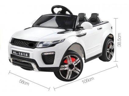 Elektrické autíčko sportovní HL1618 bílé