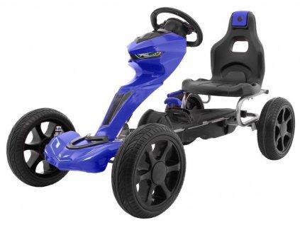 Dětská šlapací motokára Grand Ride modrá