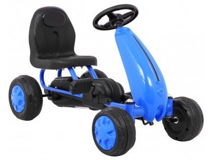 Dětská šlapací motokára modrá