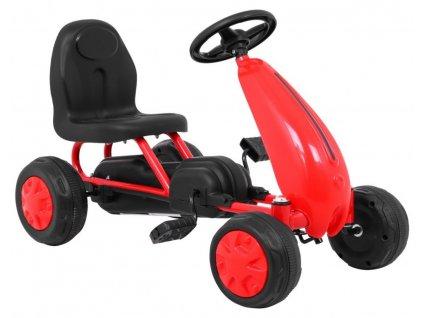 Dětská šlapací motokára červená