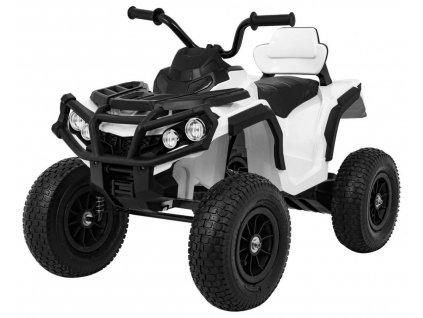 Elektrická čtyřkolka ATV nafukovací kola bílá