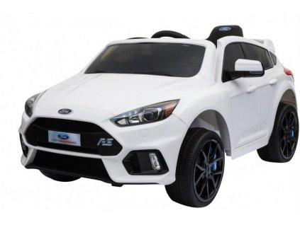 Elektrické autíčko Ford Focus RS bílé