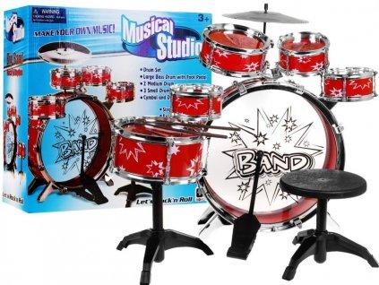 Dětské bubínky bubny bicí velká sada - červená
