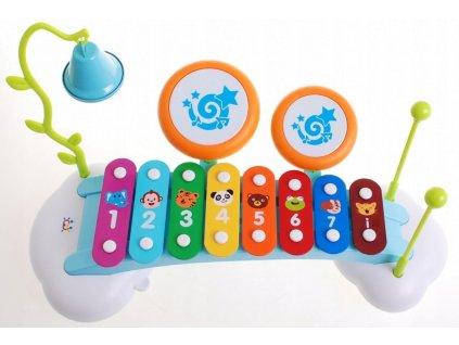 Xylofon s bubínky a zvonečkem, Huile Toy 1
