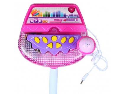 Karaoke mikrofon s nahráváním a světly1