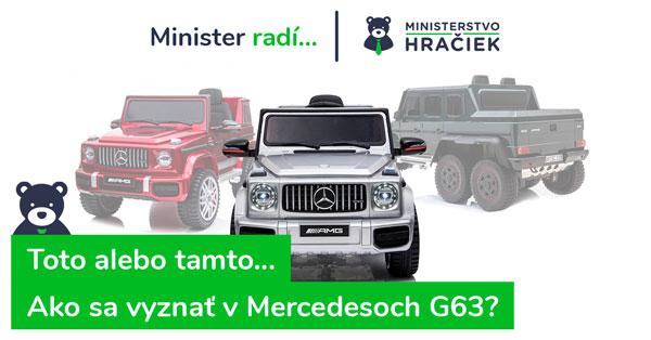 Porovnanie a recenzie elektrických autíčok Mercedes Benz G63. Aké vybrať?