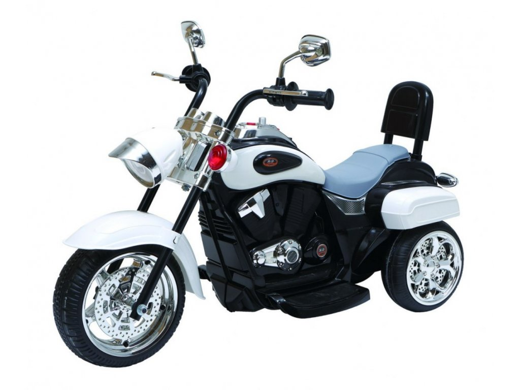 Motorek Chopper NightBike Bialy [33561] 1200