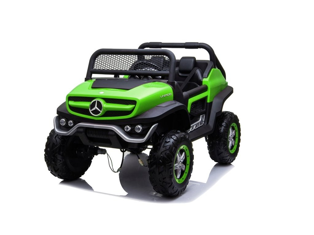 mamido Dětské elektrické auto Mercedes Unimog zelené 7