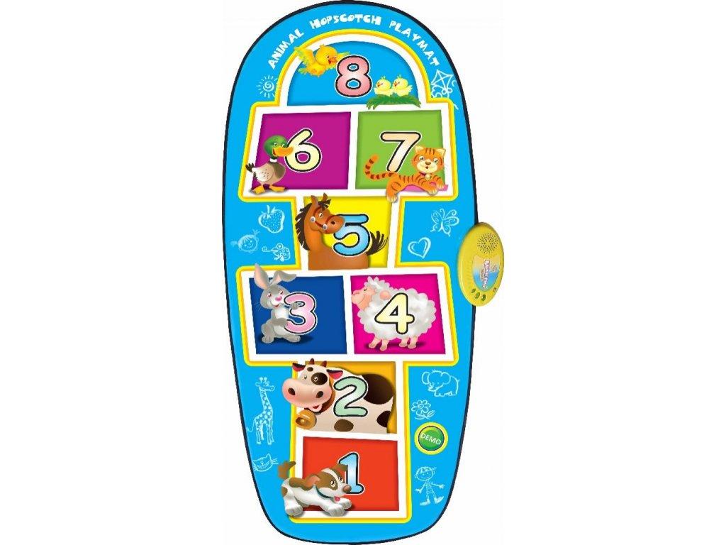 mamido Dotyková podložka pro děti skákací hra modrá