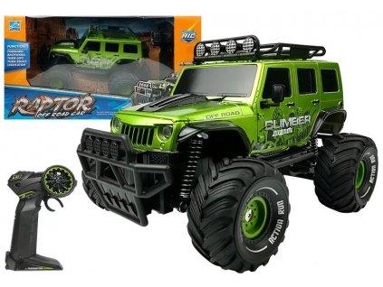 Auto na dálkové ovládání Jeep Raptor zelené