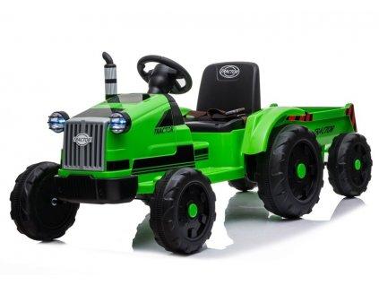 Dětský elektrický traktor s vlečkou T1 zelený2