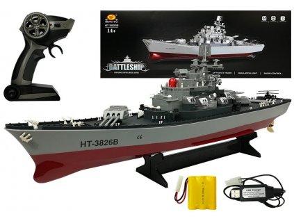 loď na dálkové ovládání battle ship RC (2)