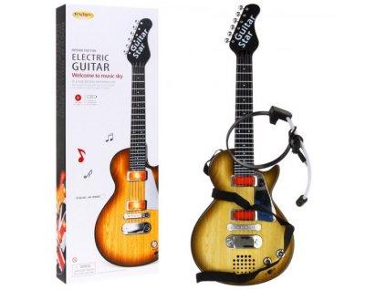 Gitara Elektryczna Rockowa Stylizacja Drewna [38275] 568