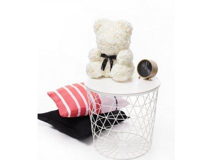 Medvídek z bílý červený 40 cm