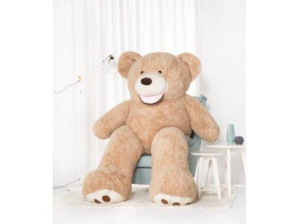 Velký plyšový medvěd Amigo béžový 220 cm