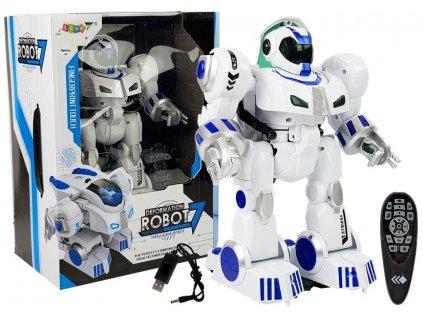 Interaktivní robot K4 na dálkové ovládání R:C bílý