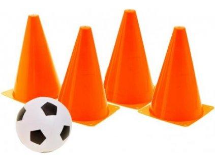 Fotbalové kužely oranžové s míčem