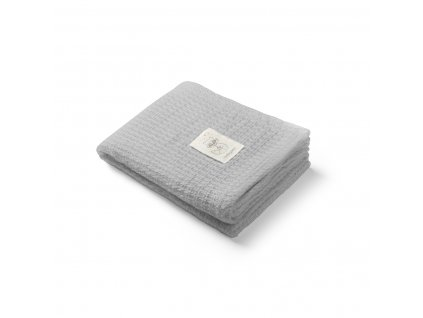Bambusová pletená deka šedá