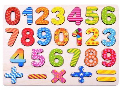 pol pl Cyfry do nauki liczenia drewniane puzzle ZA2527 13636 1